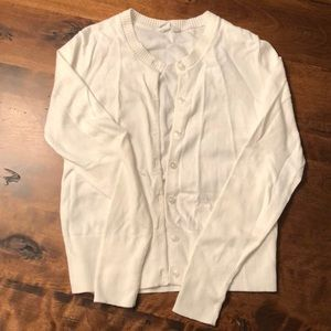 White Gap long sleeve cardigan